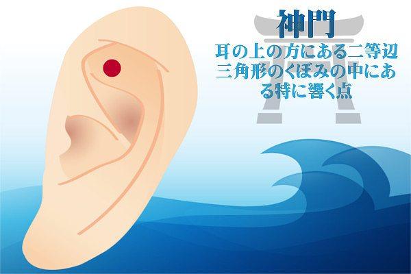 耳つぼダイエットの神門の効果方法やり方