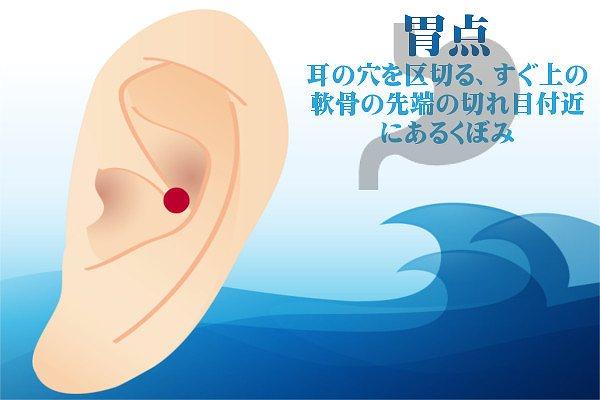耳つぼダイエットの胃点の効果方法やり方
