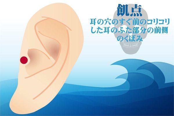 耳つぼダイエットの飢点の効果方法やり方