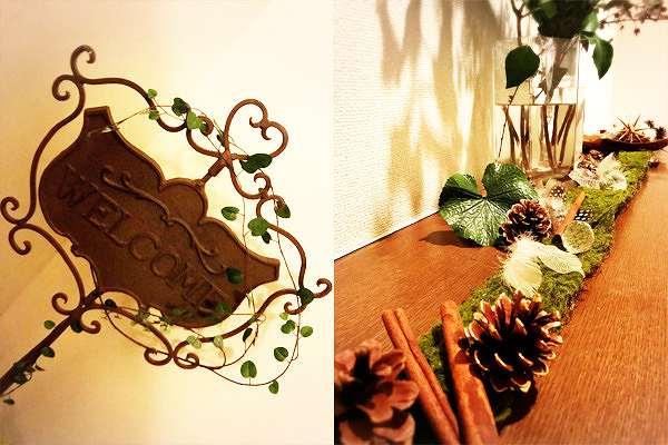 クリスマスディスプレイの手作り装飾【ウェルカムボード】