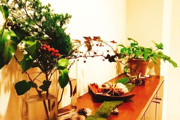 クリスマスディスプレイの手作り装飾