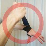 セラピスト、整体師の腱鞘炎のサポーターの使い方(良い例)